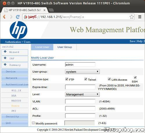 HP V1910-48G Switch Command Line Access 2